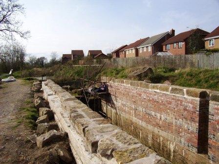 Borrowash Bottom Lock - Coping Stones in Place